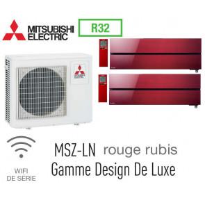 Mitsubishi Bi-split Mural Design De Luxe MXZ-3F68VF + 2 MSZ-LN35VGR - R32