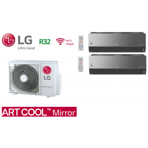 LG Bi-Split ARTCOOL MIRROR MU2R15.UL0 + 2 X AM07BP.NSJ