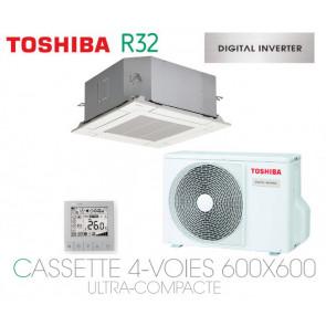 Toshiba Cassette 4-Voies 600x600 Ultra-Compacte DI RAV-RM401MUT-E