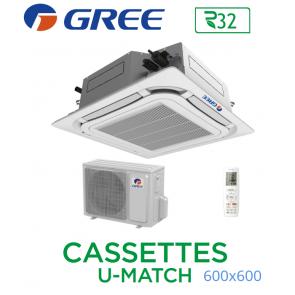 GREE Cassete U-MATCH 600x600 UM CST 18 R32