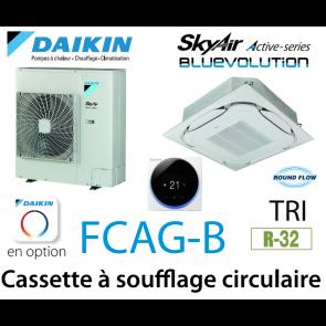 Daikin Cassette 8 voies «Round Flow» Active FCAG125B triphasé