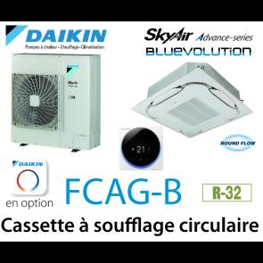 Daikin Cassette 8 voies «Round Flow» Advance FCAG125B monophasé