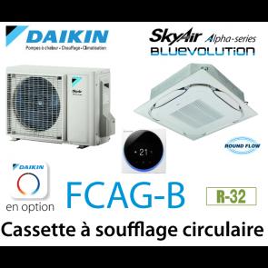 Daikin Cassette 8 voies «Round Flow» Alpha FCAG60B monophasé