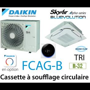 Daikin Cassette 8 voies «Round Flow» Alpha FCAG100B triphasé