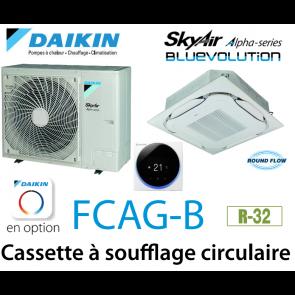Daikin Cassette 8 voies «Round Flow» Alpha FCAG140B monophasé