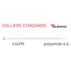"Colliers de câblage standard Naturel 290x4,5 mm de ""Elematic"""