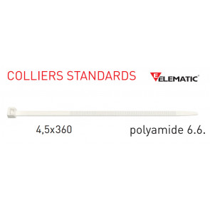 "Colliers de câblage standard Naturel 360x4,5 mm de ""Elematic"""