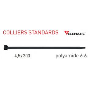 """Colliers de câblage standard Noir 200x4,5 mm de """"Elematic"""""""