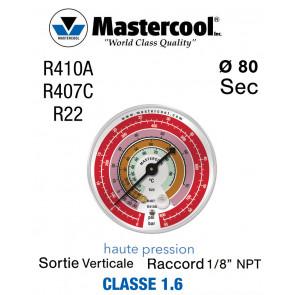 Manomètre de remplacement Mastercool HP - R22, R407C et R410A