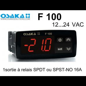 Thermostat numérique F 100 Red de Osaka en 12...24 VAC