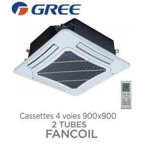 Cassettes 4 voies 900x900 batterie 2 tubes FANCOIL CST 2C50V4 de Gree