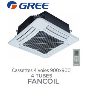 Cassettes 4 voies 900x900 batterie 4 tubes FANCOIL CST 4C60 de Gree