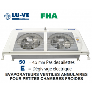Evaporateur angulaire FHA 41 E50 de LU-VE - 2950 W