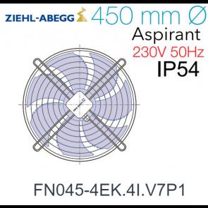 Ventilateur hélicoïde FN045-4EK.4I.V7P1 de Ziehl-Abegg