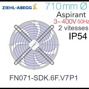 Ventilateur hélicoïde FN071-SDK.6F.V7P1 de Ziehl-Abegg