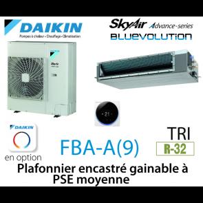 Daikin Plafonnier encastré gainable à PSE moyenne Advance FBA140A triphasé