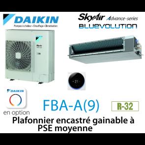 Daikin Plafonnier encastré gainable à PSE moyenne Advance FBA140A monophasé