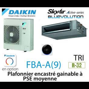 Daikin Plafonnier encastré gainable à PSE moyenne Active FBA100A triphasé