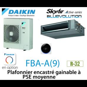 Daikin Plafonnier encastré gainable à PSE moyenne Active FBA125A monophasé