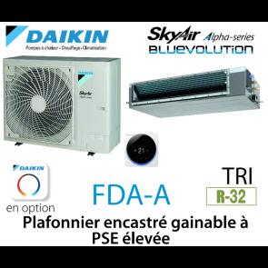 Daikin Plafonnier encastré gainable à PSE élevée Alpha FDA125A triphasé