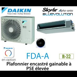 Daikin Plafonnier encastré gainable à PSE élevée Alpha FDA125A monophasé