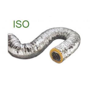 Gaine souple de ventilation en aluminium avec isolement en fibre de verre 10 m Ø 127mm