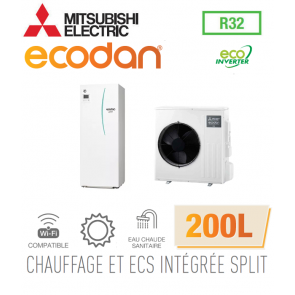 Ecodan duo 4 Eco Inverter CHAUFFAGE SEUL + ECS 200L EHST20D-VM2D + SUZ-SWM40VA