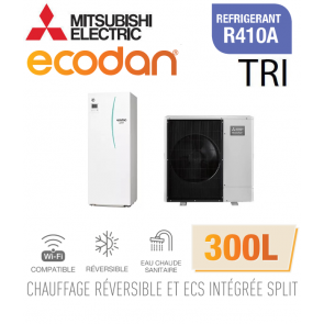 Ecodan duo 11 réversible 300L ERST30C-VM2ED + PUHZ-SW100YAA