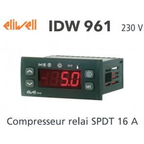 Régulateur Eliwell IDW961 230 V avec une sonde NTC