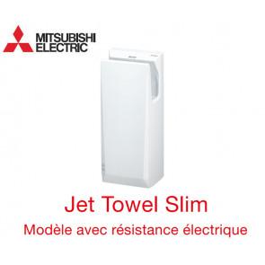 Sèche-mains Jet Towel Slim Blanc JT-SB216JSH2-W-NE avec Chauffage de Mitsubishi