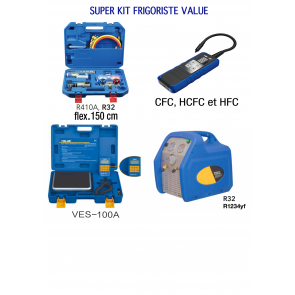 SUPERT Kit complet d'outillage frigoriste professionnel
