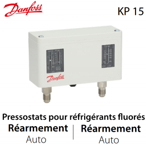 Pressostat double automatique - 060-124166 - Danfoss