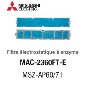 Filtre électrostatique à enzyme MAC-2360FT-E