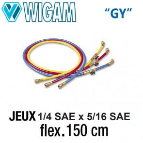 """Jeux de flexibles 1/4"""" x 5/16""""- 150 Cm avec vanne"""