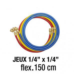 """Jeux de flexibles 1/4"""" x 1/4""""- 150 Cm"""