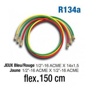 Jeux de flexibles pour R134A - 150 Cm