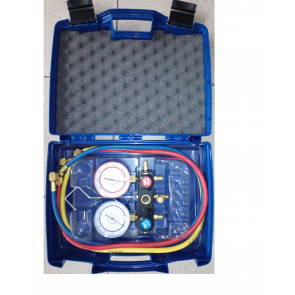 Coffret Manomètres pour R134A, R22, R404A, R407C avec flexibles