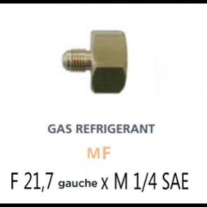 Raccord pour bouteille de fluide en laiton R600a - R290 - R1234yf