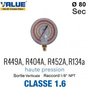 Manomètre HP R449A, R404A, R452A, R134a
