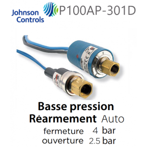 Pressostat Cartouche P100AP-301D JOHNSON CONTROLS
