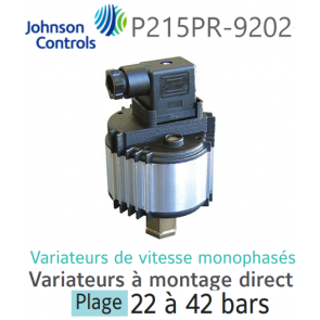 Variateur de vitesse monophasé à montage direct P215PR-9202 Johnson Controls