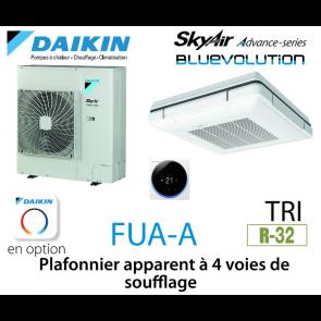 Daikin Plafonnier apparent à 4 voies de soufflage Advance FUA125A triphasé