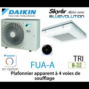 Daikin Plafonnier apparent à 4 voies de soufflage Alpha FUA100A triphasé