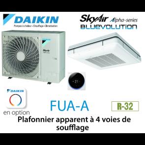 Daikin Plafonnier apparent à 4 voies de soufflage Alpha FUA71A monophasé