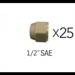 """Lot de 25 Écrous court 1/2"""" SAE"""