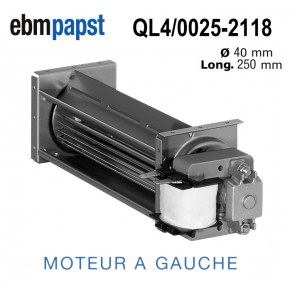 Ventilateur Tangentiel QL4/0025-2118 de EBM-PAPST