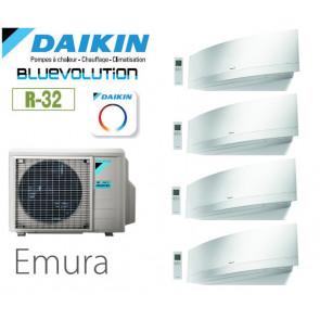 Daikin Emura Quadrisplit 4MXM80N9 + 3 FTXJ20MW + 1 FTXJ35MW  - R32
