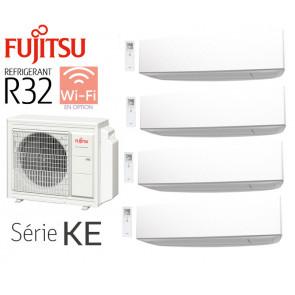 Fujitsu Quadri-Split Mural AOY80M4-KB + 2 ASY20MI-KE + 1 ASY25MI-KE + 1 ASY40MI-KE