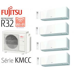Fujitsu Quadri-Split Muraux AOY80M4-KB + 3 ASY20MI-KMCC + 1 ASY35MI-KMCC