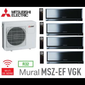 Mitsubishi Quadri-split Mural Inverter Design MXZ-4F83VF + 3 MSZ-EF22VGKB + 1 MSZ-EF42VGKB